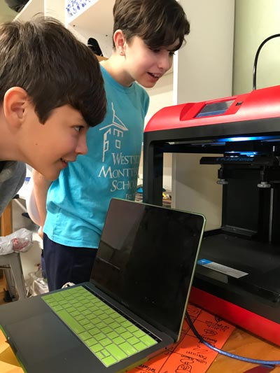 3DPrinter-Middle-School-Westside-Montessori-Technology